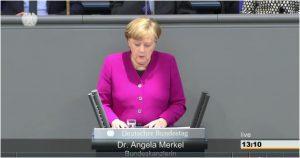 Aus dem Videomitschnitt des Deutschen Bundestages der Regierungserklärung vom 21.03.2018
